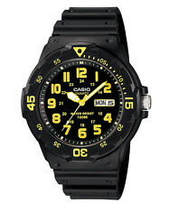 Casio MRW200H-9B Men's Black Resin Strap 100M Sports Easy Reader Analog Watch