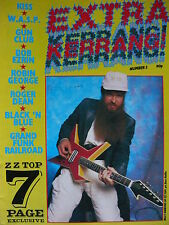 EXTRA KERRANG NO 3 - ZZ TOP -  HANOI ROCKS - KISS - GIRLSCHOOL - WASP