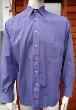 """Christian Dior Purple Check  Button Cuff Cotton Shirt UK 16"""" 41 cm Pristine"""