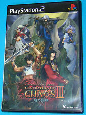 Generation of Chaos 3 - Sony Playstation 2 PS2 Japan - JAP