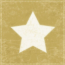 Christmas 20 Paper Lunch Napkins X-MAS STAR GOLD Christmas Table Decoration