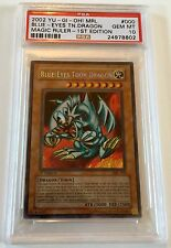 Yu-Gi-Oh 1st Edition Magic Ruler Blue Eyes Toon Dragon MRL-000 Holo PSA 10 GEM