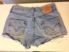 Women's Levi's 501 Denim Shorts Hot Pants - Size 30W - Daisy Dukes
