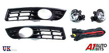 VW PASSAT 3C 06-09 56 57 58 59 60 FOG LIGHTS & GRILLS WITH WIRING FULL SET KIT