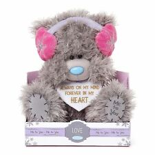 "Me to You 9"" Forever In My Heart Pink Earmuffs Plush - Tatty Teddy Bear"