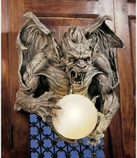 Gothic Gargoyle Lamp Medieval Wall Sculpture