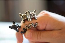 French Bulldog/Frenchie Metal Ring UK SELLER Black or Gold