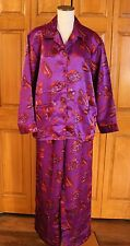 WOMEN'S RED HAT SOCIETY 2-PIECE SILKY SATIN PAJAMAS SIZE LARGE NEW WITH TAGS