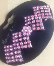 A Beautiful Diamond Design Metal Barrette Hair Clip With Pretty Pink Stones