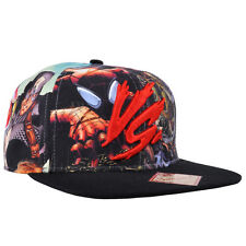 Marvel Comics Snapback Hat Character VS Sublimated Cap Mens Authentic Black