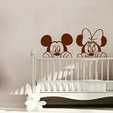Minnie Mouse Wall Decal Mickey Mouse Vinyl Sticker Playroom Nursery Decor KI118