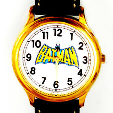 Batman Fossil Big Full Number Easy Read New Unworn, Dress Leather Band Watch $99