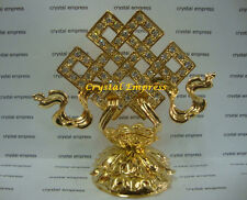 FENG SHUI - BEJEWELED GOLD MYSTIC KNOT FIGURINE (LOVE & GOOD FORTUNE)