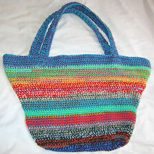 HANDMADE Knit CROCHET Womens HAND BAG Purse BEACH Large TOTE Book TRAVEL Laptop!
