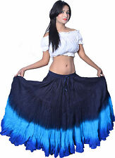 Indiantrend 25 Yard Belly Dance Skirt - Black/Turquoise/Royal