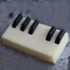 Silicone Mold Soap Making Supplies Silicone Piano Keys mold Rectangle 3 Cavities