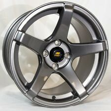 MST MT09 15x8 4x100 +20 Gunmetal Wheels Rims Fits Carrado Del So Civic Crx