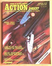ACTION DIGEST N° 22 / ARMES,FUSIL,CARABINE,PISTOLET,REVOLVER,COLT,COUTEAU,TIR