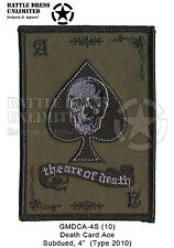 Patch: Death Card, Ace of Spades subdued (Army USMC USN USAF Paintball Multicam)