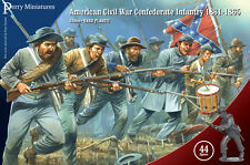 American Civil War Confederate Infantry - 28mm figures Perry ACW80 - free post