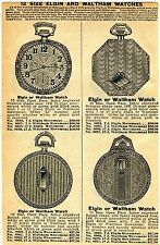 1929 small Print Ad of Elgin & Waltham Pocket Watches