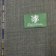 100% ESCORIAL WOOL SUITING FABRIC( LENGTH 3.40  MT)