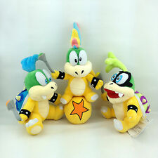 3X Super Mario Koopalings Larry Iggy Lemmy Koopa Baby Bowser Plush Toy Teddy