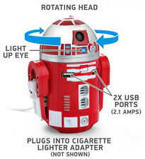 Star Wars R2-D9 USB Car Charger R2D2 Lucasfilm Lights Sounds Motion SDCC RED
