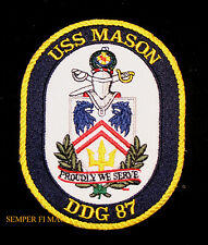 AUTHENTIC USS MASON DDG-87 PATCH ARLEIGH BURKE CLASS DESTROYER PIN UP US NAVY