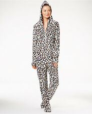 Jenni by Jennifer Moore Hooded Footed Pajamas in Leopard, XLarge NWT $59.50