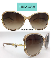 Tiffany & Co. Sunglasses TF4067 81473B Taupe with Lock and Chain Accent Size 58