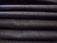 ITALIAN  WOOL SNAKESKIN  SUITING-BLACK-COATTING/JACKET FABRIC -FREE P &P UK ONLY