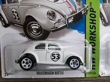 Hot Wheels VW Volkswagon Beetle Herbie the Love Bug Metal Toy Car Lot of 2 1/64
