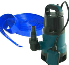 FLOOD KIT 500W SUBMERSIBLE DIRTY WATER PUMP + 20M HOSE 24 HOUR DELIVERY
