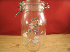 LARGE ARC FRANCE COUNTRY GOOSE GLASS CANISTER LOCKING CLASP