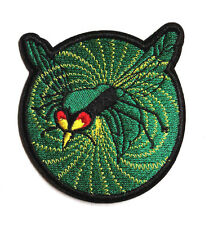 "Green Hornet Sting Logo  3""  Wide Green Patch- FREE S&H (MIPA-GrHornet)"