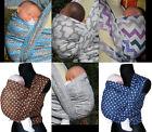 Baby-Tragetuch gepunktet Eulen süß gewebt 100% Baumwolle Wickel Geburt-3 Monate