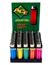 (50) Disposable Classic Cigarette Lighters - Full Standard Size - Wholesale Case