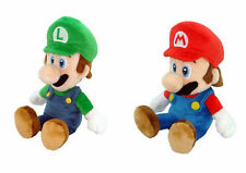 "Set of 2 AUTHENTIC Super Mario Bros 8"" Mario & Luigi Stuffed Plush Doll LICENSED"