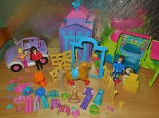 FASHION POLLY POCKET PONY HORSE STABLE BARN CAR VEHICLE DOLLS OUTFITS SET LOT