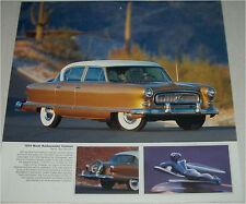 1954 Nash Ambassador Custom 4 dr sedan car print (gold & white)