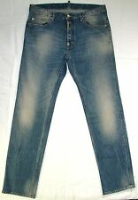 DSQUARED2 Straight Leg JEANS 52 Made in Italy Button-fly H20