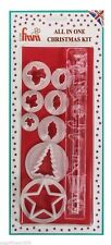 FMM Christmas Cake Kit Sugarcraft Cutters Holly Ivy Tree Star  NEXT DAY DESPATCH