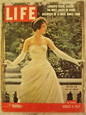 LIFE Aug 5 1957  '57 Edsel, Alaska statehood, game fish, PHRYGIA '50s car racing