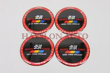 4pc 65mm Wheel Rim Center Hub Cap Dome Badge Sticker Decal Fit Civic JDM Mugen