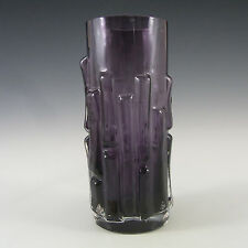 Aseda Swedish Purple Glass Bark Vase - Bo Borgstrom B5/830