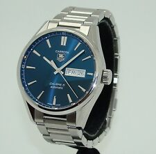 TAG HEUER CARRERA CALIBRE 5 AUTOMATIC MEN's BLUE DIAL DAY-DATE WATCH WAR201E