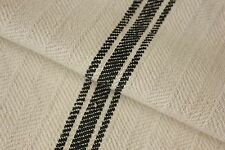 GRAIN SACK RARE BLACK vintage homespun RARE  cotton mix grainsack cotton old