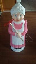 Mrs Santa Claus Christmas BRAND NEW Union Blow Mold Pink Lady Lawn ornament