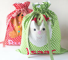 SANTA SACKS - Applique Sewing Craft PATTERN - Christmas Shabby Chic